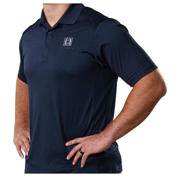 Hornady® Navy Blue Polo Moisture-Wicking Shirt