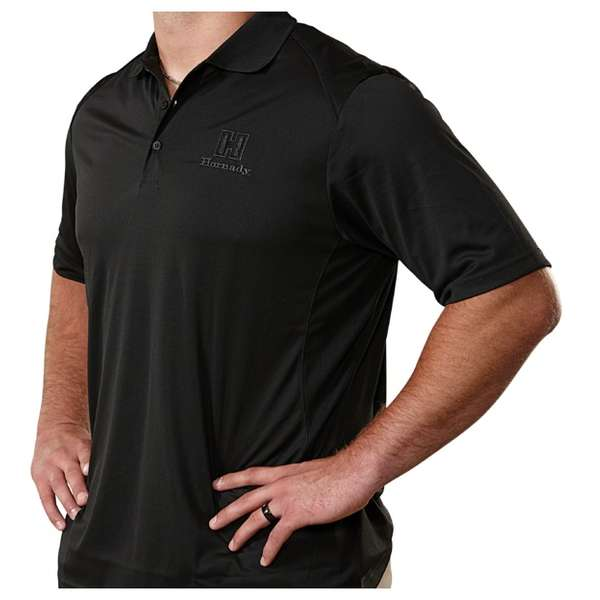 Hornady® Black Polo Moisture-Wicking Shirt