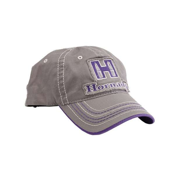 Ladies Gray & Purple Cap