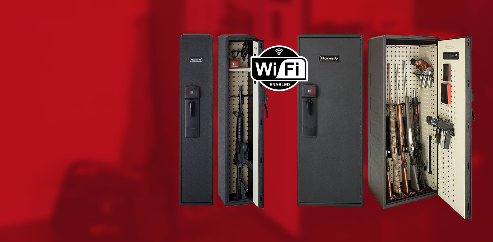 Slide number 1 Stay connected to yourREADY VAULT ™ Wifi connectivity allows you to know when your safe is unlocked. Find Out More