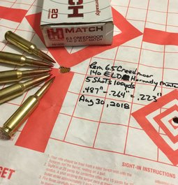 6.5 Creedmoor Factory Match Ammo