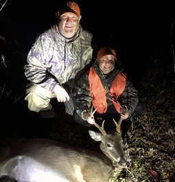 Daughters second Buck using Hornady Whitetail Ammo in .243