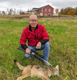 .350 Legend does its job on a coyote