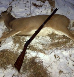First deer with a patched round ball