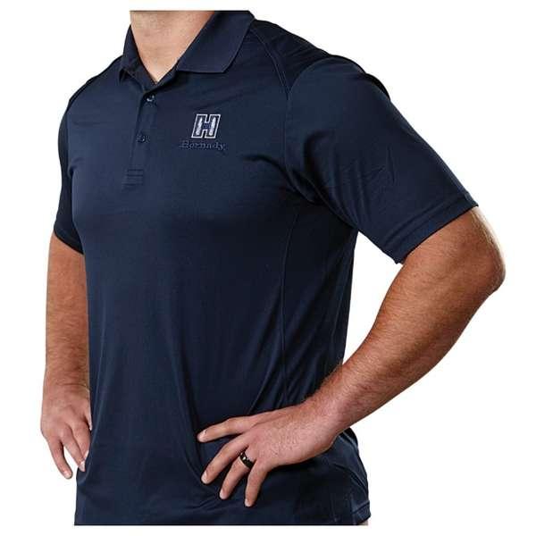 Hornady® Navy Blue Polo Moisture-Wicking Shirt