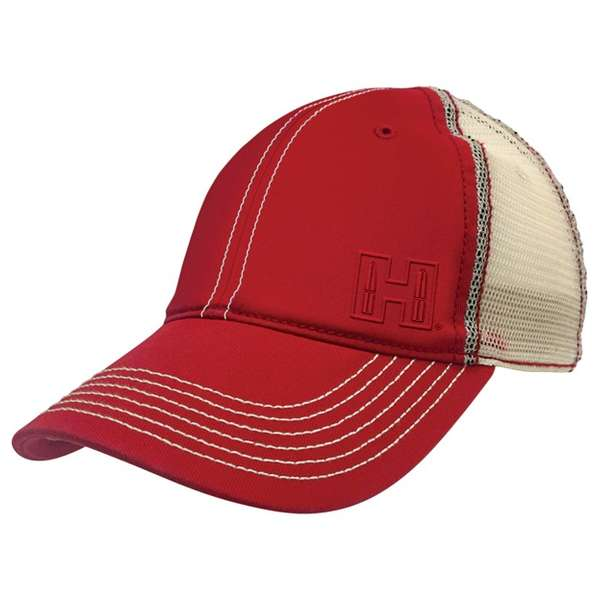 Red & White Mesh Cap