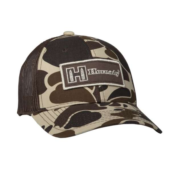 Brown & Tan Camouflage Mesh Cap