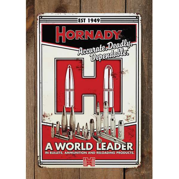 Decorative Hornady<sup>®</sup> World Leader Tin Sign