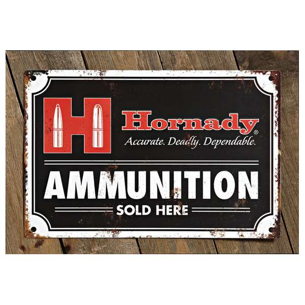 Decorative Hornady<sup>®</sup> Ammo Tin Sign