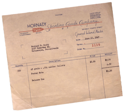 Photo of original Invoice
