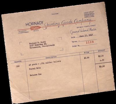 Photo of original Invoice