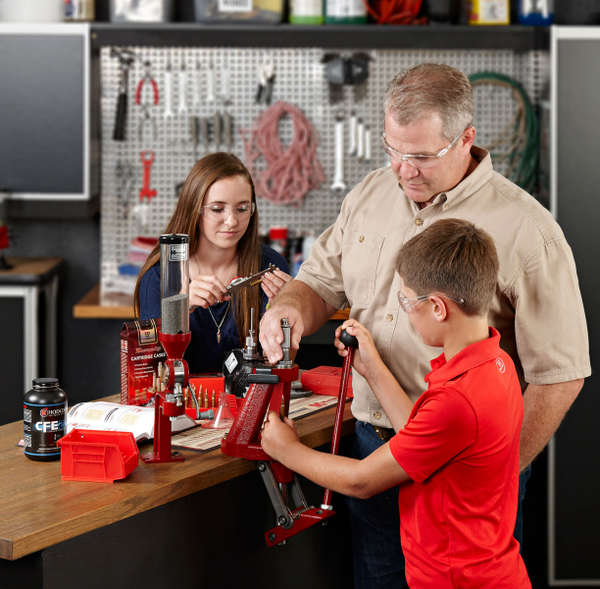 Photo of Jason Hornady & Children at Workbench