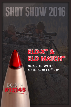 Hornady® Announces 2016 SHOT Show appearances at Booth 13145