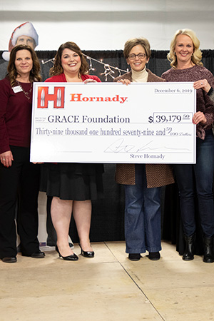 Hornady<sup>®</sup> Donates Funds to GRACE Cancer Foundation