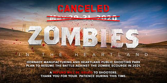 Zombie Shoot Cancelled